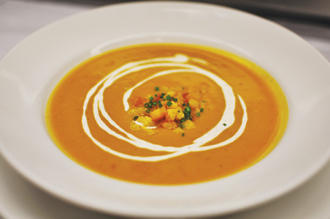 Butternut Squash Soup With Nutmeg Cream Recipes — Dishmaps