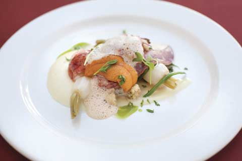 Culinary Trends Champagne Butter Poached Maine Lobster With
